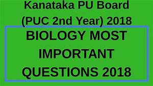 Biology Chapterwise Most Important Questions Puc 2nd Year