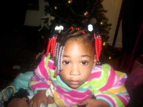 natural kids hairstyle beads braids  ponytails