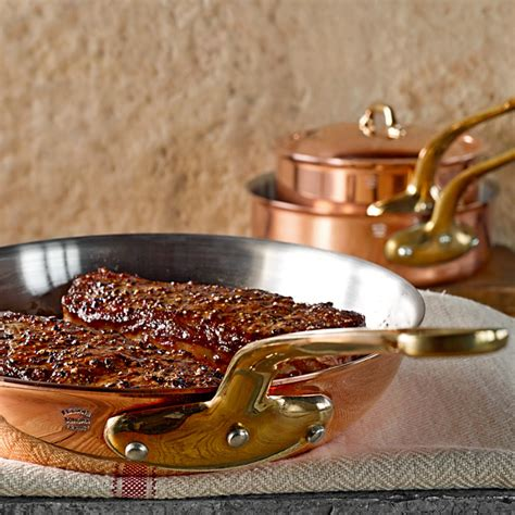 win  mauviel copper fry pan  celebrate chuck williams  birthday pottery barn
