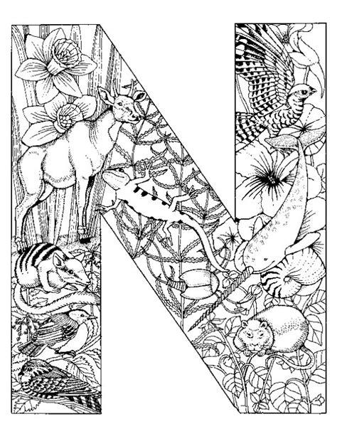 N Kleurplaten by Kleurplaten En Zo 187 Kleurplaat Letter N