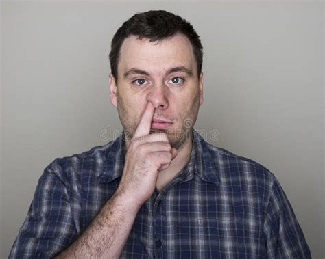 Man Digging Up His Nose Stock Photo. Image Of Disgust
