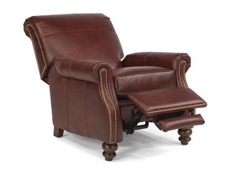 flexsteel living room leather power high leg recliner