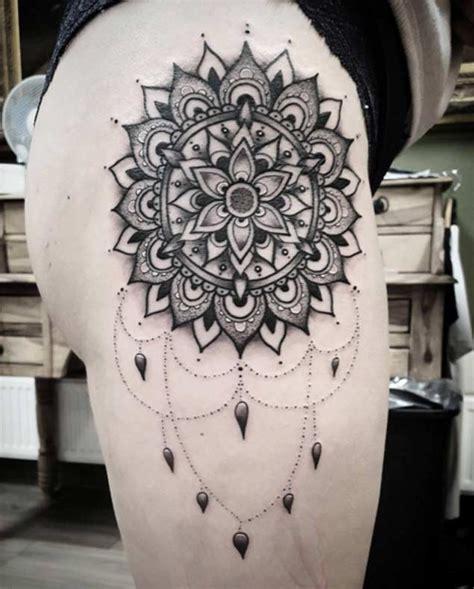 mandala hip tattoo tattoos  women mandala hip