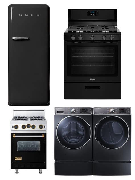 black washer and dryer black is the stainless steel color ideas 2014 lonny
