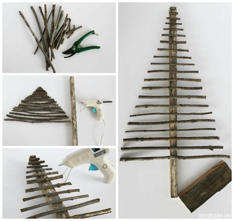 how to fix christmas tree branches easy decorative twig tree decor