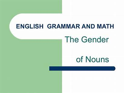 Math English Grammar Slideshare