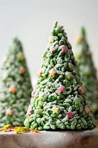 Rice Krispie Cone Christmas Trees