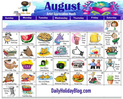 Monthly Holidays Calendars to Upload! | National day ...