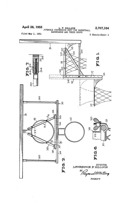 regulation basketball hoop size patent us2707104 juvenile conversion unit for basketball