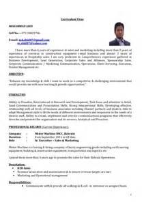 Cv Sr Executive Sales Marketing