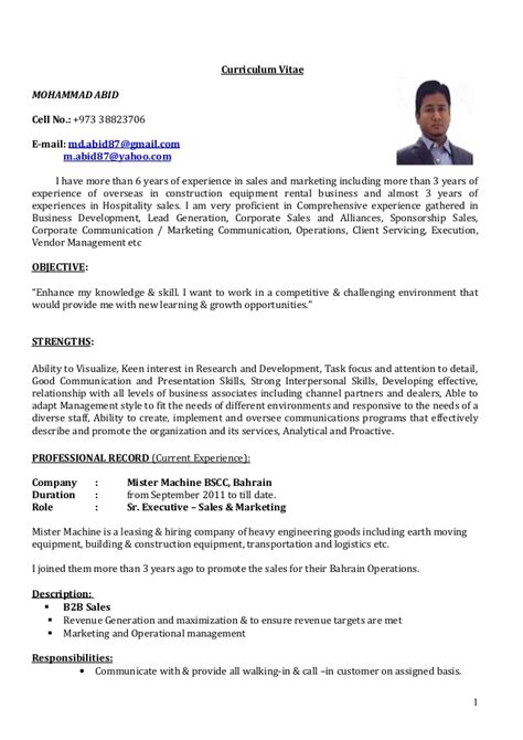 manager resume sample cv sr executive sales marketing