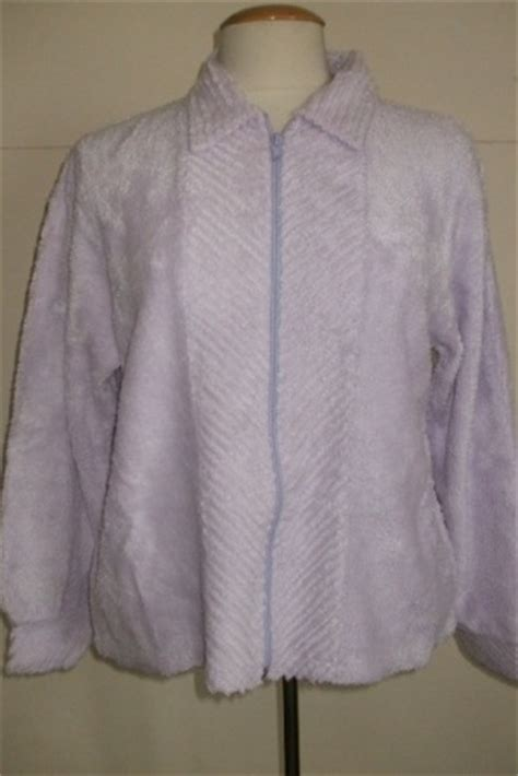 chenille bed jacket lilac zip up chenille bed jacket