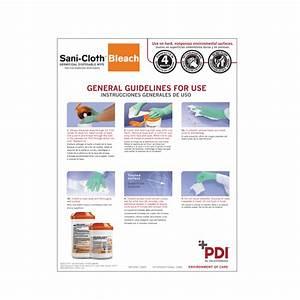 Sani Cloth Bleach Instructions For Use Ifu Sign Pdi