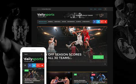 Dailysports Template Monster sports news bootstrap template