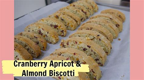 Cranberry almond biscotti, gluten free biscotti, paleo biscotti. EASY CRANBERRY APRICOT AND ALMOND BISCOTTI - YouTube