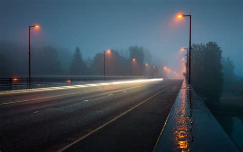 rainy night   bridge wallpaper  city