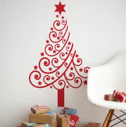 christmas tree wall sticker by spin collective notonthehighstreet com