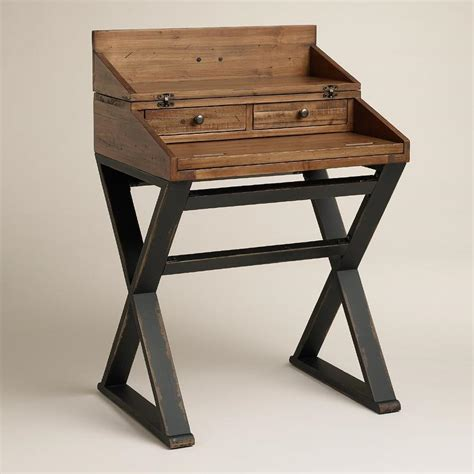 Small Wood Desk by Black Industrial Wood Top Small Desk