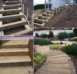 holz treppe terrassen treppen holz selber bauen bvrao