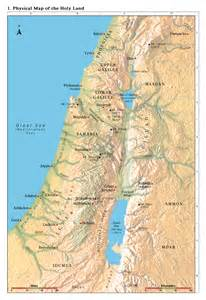 Map of Holy Land in Old Testament Times