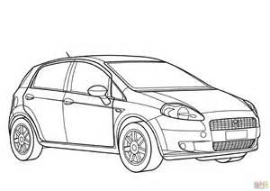 Fiat Panda Kleurplaat by Fiat Grande Punto 3d Coloring Page Free Printable