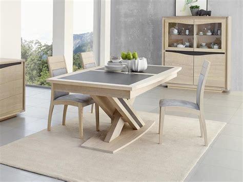 meuble bureau usagé table à manger osiris en chêne avec pied central meubles
