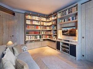 amenagement interieur une bibliotheque d39ebeniste pour With beautiful amenagement piscine en bois 13 amenager une suite parentale