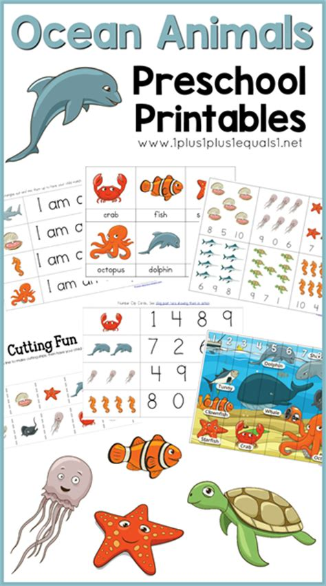 animals preschool printables 1 1 1 1 542 | Ocean Animals Preschool Printables
