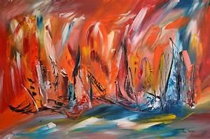Tableau Contemporain Grand Format : tableau peinture moderne abstraite tableau contemporain abstrait ~ Teatrodelosmanantiales.com Idées de Décoration