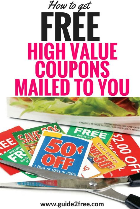 14283 Food Coupons By Mail by Free Coupons By Mail Email Companies To Get High Value
