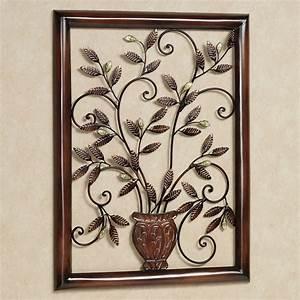 Tosca Floral Metal Wall Sculpture
