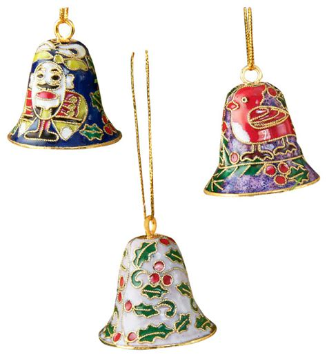 12 cloisonne bell ornament cloisonne bell ornaments set of 12 small traditional christmas ornaments by value arts