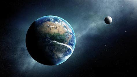 Earth Moon Space View Digital Art Johan Swanepoel