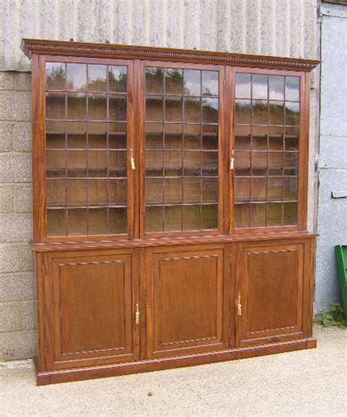Bookcase With Cupboard Base by Antique Furniture Warehouse Large Georgian Library
