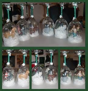 christmas wine glass snow globes by arimich on deviantart