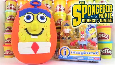 Spongebob Giant Play Doh Surprise Egg Sponge Out Of Water
