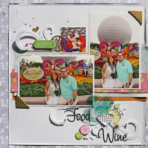 scrapbooking cuisine 90 best images about disney epcot scrapbook layouts on