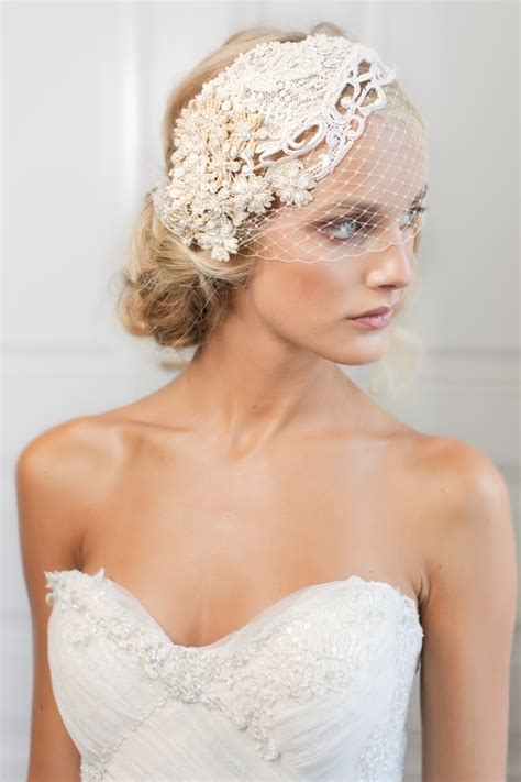 Stylish And Sophisticated Birdcage Veils Chic Vintage
