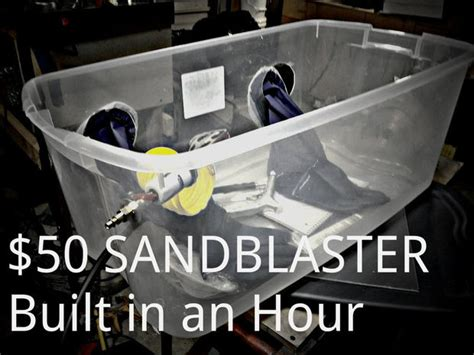 Diy Blast Cabinet Kit by Diy Sand Blaster 50 In An Hour Do It Yourself