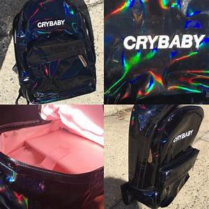 Angel Baby Design Tumblr Aesthetic Koko Holographic Black Crybaby Backpack