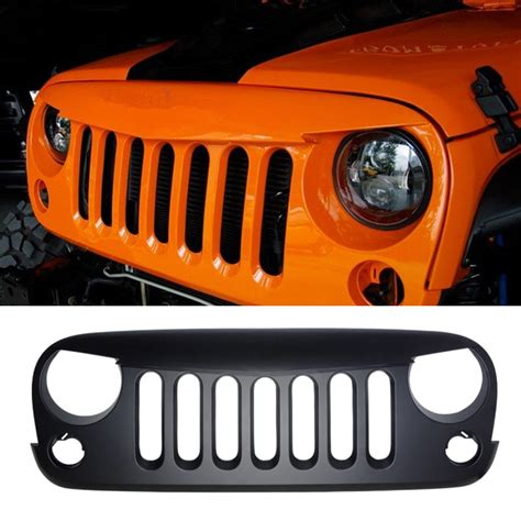 angry grill grille jeep wrangler jk  slot mad