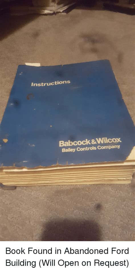 Instructions Babcock&Wilcox Bailey Controls Company ...