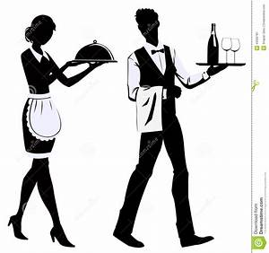 Silhouette Waiters Stock Vector - Image: 43392781