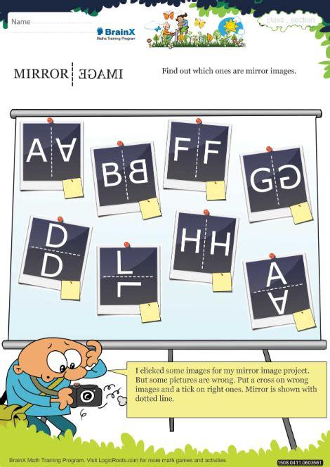 mirror image math worksheet  grade   printable