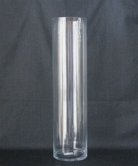 acrylic cylinder vase large glass vase clear plastic for crafts clear