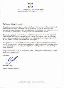 letter of recommendation for business services best With recommendation letter for a company template