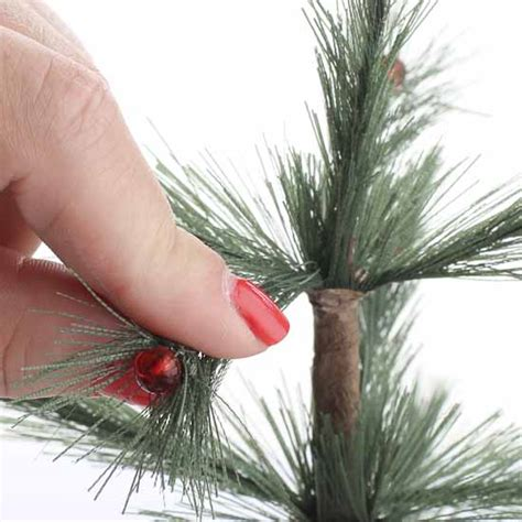 artificial skinny feather tree pick christmas miniatures