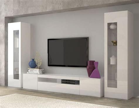 daiquiri high gloss white wall tv unit living room