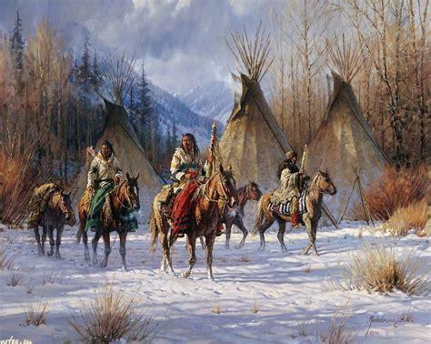 Native American Western Art Paintings Native American