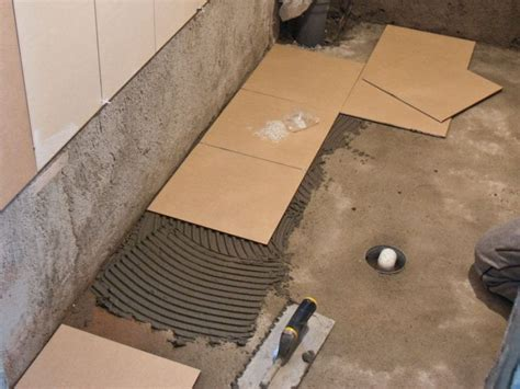 New Laying Ceramic Tile On Concrete Basement Floor